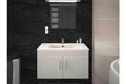 AUCUNE Meuble de salle de bain laqué blanc 1 vasque sikkie 80 cm