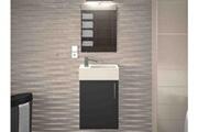 AUCUNE Meuble de salle de bain bois gris mat 1 vasque micky 40 cm