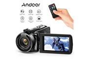 """Andoer Fhd 1080p caméscope numérique portable caméra infrarouge vision nocturne 3.0 """"écran lcd rotatif 16x zoom numérique 24m"""