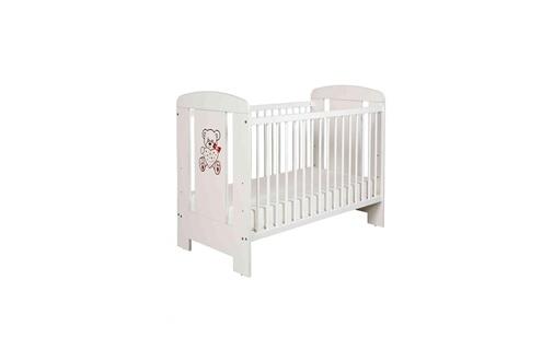 Terre De Nuit Lit bébé à barreaux 60x120 en bois blanc matelas lt0004