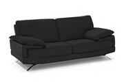 Linea Sofa Canapé 2 places cuir luxe italien emotion - noir