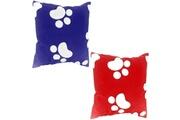 Promobo Lot de 2 coussins géométrique forme tendance pop art patte de chien 40 x 40cm