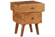 Vidaxl Table de chevet bois d'acacia massif 40 x 35 x 49 cm