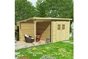 Vidaxl Cabanon de jardin en rondins bois massif 28 mm, 5,3 x 3 m