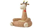GENERIQUE Mobilier pour bébés et tout-petits ligne rabat chaise en peluche pour enfants girafe marron