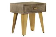 Vidaxl Table de chevet 45x35x48 cm bois solide de manguier et fonte