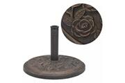 GENERIQUE Accessoires pour parasols et voiles d'ombrage famille panama socle de parasol résine rond bronze 9 kg