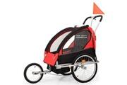 Vidaxl Remorque à vélo et poussette pour enfants 2-en-1 rouge et noir