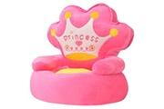 GENERIQUE Mobilier pour bébés et tout-petits serie bamako chaise en peluche pour enfants princesse rose