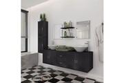 GENERIQUE Ensembles de meubles collection nuku?alofa mobilier de salle de bain avec lavabo 9 pcs noir