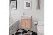 GENERIQUE Ensembles de meubles reference lomé meubles de salle de bains trois pièces beige