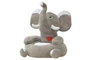 GENERIQUE Mobilier pour bébés et tout-petits gamme la valette chaise en peluche pour enfants éléphant gris