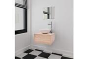 GENERIQUE Ensembles de meubles gamme bangkok meubles de salle de bains trois pièces beige