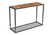 GENERIQUE Consoles ligne mascate table console bois de récupération massif 110 x 35 x 76 cm