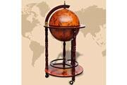 GENERIQUE Armoires et meubles de rangement serie castries support de vin sous forme de globe bois