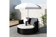 GENERIQUE Meubles de jardin serie podgorica canapé de 2 places rond noir avec le parasol