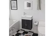 GENERIQUE Ensembles de meubles ligne dili meubles de salle de bains trois pièces noir