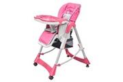 GENERIQUE Mobilier pour bébés et tout-petits ligne minsk chaise haute pour bébés deluxe rose hauteur réglable