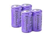 Xcsource 4x gtl 16340 2300mah batterie lithium rechargeable pour lampe de poche rc1036