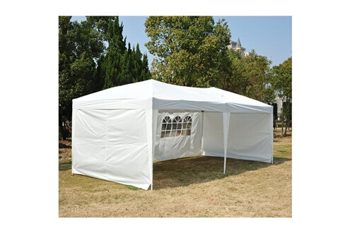 Outsunny Tonnelle Barnum Tente De Réception Pliante Pop Up Dim 6l X 3l X 2 55h M Blanc Sac De Transport