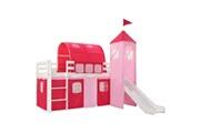 Vidaxl Lit mezzanine d'enfants avec toboggan et échelle pin 97x208 cm
