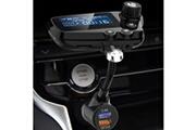 Generic Suoupasora adaptateur de chargeur de voiture bluetooth 5.0 transmetteur fm modulateur de véhicule écran 1.8in