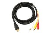 Ineck Hdmi vers rca c�ble 1.5 m hdmi m�le vers 3rca vid�o audio av component c�ble adaptateur convertisseur pour hdtv dvd de pc et la plupart des projecteu