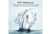 Ovonni Hydropulseur irrigateur dentaire rechargeable usb avec 3 modes de nettoyage, 2 buses d'eau rotatives interchangeables à 360 degrés