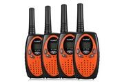 Floureon 8 canaux 4 * talkies-walkies jumeaux radio 2 voies pmr 446mhz gamme interphone
