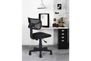 Easy Meuble Chaise de bureau mesh noir réglable roulettes