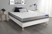 Actisom Ensemble matelas 140x200 actimemo soft 3zones de confort + sommier kit blanc