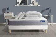 Actisom Pack prêt à dormir matelas actiflex dream ressorts ensachés + mémoire de forme 140x190 + sommier kit blanc +2oreillers+couet