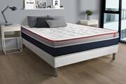 Vitalit Ensemble vital soft 200x200 mousse à mémoire de forme maxi épaisseur + sommier kit blanc