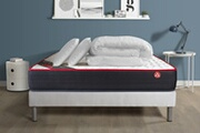Vitalit Pack prêt à dormir vitalspring 180x200 ressorts ensachés 3 zones ultra épaisseur + sommier kit blanc + 2oreillers + couette