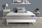 Actisom Ensemble matelas ressorts ensachés actiflex touch 90x190 3zones de confort + sommier kit blanc