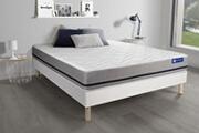 Actisom Ensemble matelas 200x200 actilatex soft 3zones de confort + sommier kit blanc