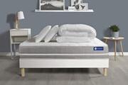 Actisom Pack prêt à dormir matelas ressorts ensachés actiflex touch 180x200 3zones confort + sommier kit blanc + 2 oreillers +couette