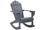 Vidaxl Chaise à bascule de jardin bois gris