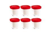 Seb, Moulinex, Krups, Tefal, Rowenta Pots yaourt rouge (x6) multi délices seb/tefal (xf100501)