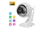 Floureon Floureon 1.3mp 960p 1280*960 wifi camera de surveillance h.264 sans fil camera de securite tf micro sd carte, ip, eu blanc