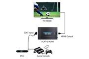 Alpexe Alpexe convertisseur péritel vers hdmi vidéo audio adaptateur de signal crt tv, vhs vcr, dvd support ntsc pal