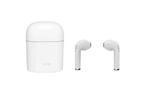 Tws Tws i7s bluetooth ecouteur sans fil, ecouteurs binaural call, mini ecouteur dual, micro integre resistant a la sueur avec boite de charge, eu blanc