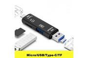 Alpexe Alpexe lecteur de carte usb, type c carte sd/micro sd usb 3.0 adaptateur otg pour sdhc, sd, tf, sdhc, sdxc, mmc, rs-mmc, micro sdxc uhs-i carte