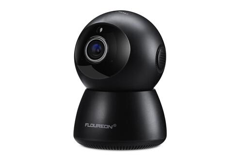 Floureon Floureon 1080p sans fil camera de surveillance, camera de securite, vision nocturne audio bidirectionnelle, eu noir