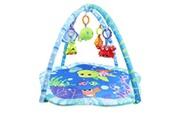 Leogreen Tapis de jeux pour bébé, tapis d'éveil pour enfants, monde de la mer, dimensions: 73,5 x 73 x 49 cm
