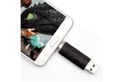 Shot Case Clef usb 8go 2 en 1 pour alcatel 1b smartphone & pc micro usb memoire 8gb (noir)