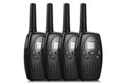 Floureon Talkie walkie 8 chaîne floureon lot de 4 uhf400-470mhz 2-way radio 3km interphone noir