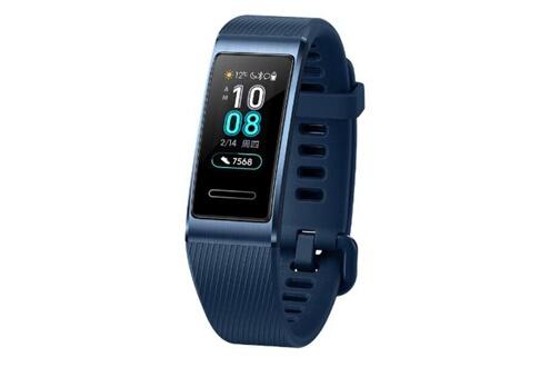Huawei Bracelet connecté band connecté 3 pro multifonctionnel étanche - bleu