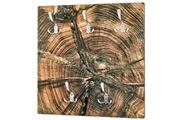 Pegane Garderobe murale coloris nature-optique inox - dim : l 60 x p 9 x h 60 cm -pegane-