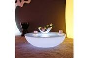 Livedeco Livedeco - table basse lumineuse led multicolore - moon light